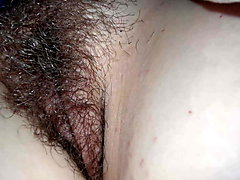Wife's Hairy Pussy at Rest