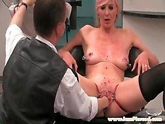 i am pierced bdsm slave with pussy piercings stuffed