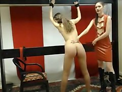Fabulous webcam BDSM, Lesbian clip with femdomshow girl.