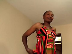 Curvy African Babe Takes White Boner