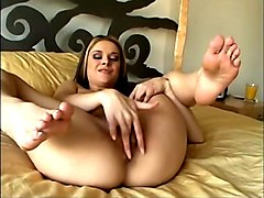 violet shows and plays with her pumped pussy