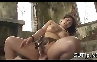 Real sex scene as slutty couple gets down to business outside