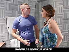 badmilfs - stepson shares his gf with stepmom