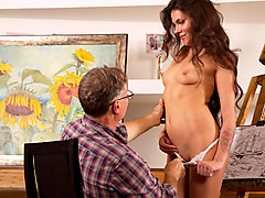 Sintia in Tricky old art teacher fucks on of his most promising students - TrickyOldTeacher