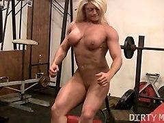 blonde british muscle bombshells big clit