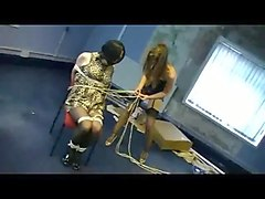 Unsuspecting crossdresser bound  gagged   robbed