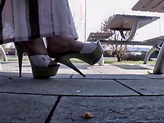 bbw, heel, restaurant, high heel, matures