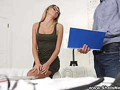 She Is Nerdy - Boss fucks his nerdy as###tant