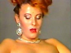 naughty and lean white italian milf masturbates with a dildo