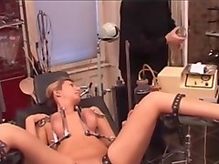 tits squashed, nipples and pussy pumped