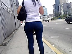 Sexy college girl in jeans blue - part 2