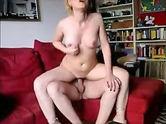 saucy blonde chick riding hard dick in reverse cowgirl position