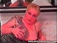 my sexy piercings slut rhona anal milf has sexy pierced puss