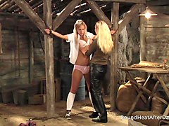 slaves homecoming: hopeless slave bound and groped