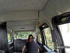 Taxi driver bang massive tits redhead