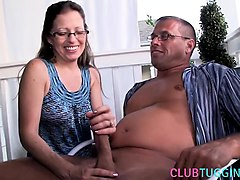 jerk, brunette, mature, outdoors, hd