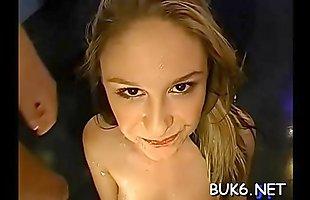 Getting spewed with glazy warm sex spunk delight wild babes