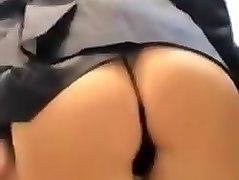 Hot flight attendant livestreams hot cam show