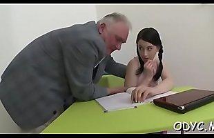Barely legal slut loves old man more than her coevals