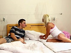 beautiful blonde naomi nevena wakes up her boyfriend early in the morning