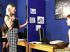 office cfnm milfs blowing shy guys cock