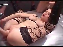 german stocking girl fisted in threesome