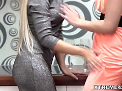 blonde lesbians love fisting sex - dido angel and julia park