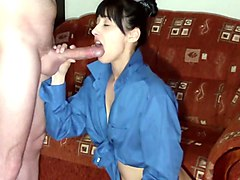 collar up blow job and sex