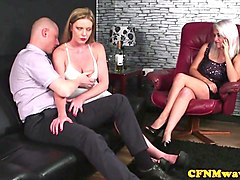 british cfnm doms cocksucking sub in threeway