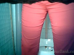 sweet busty white chick in pink blouse and pink pants