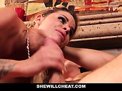 cuckold husband watches wifes pussy get destroyed