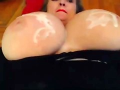 massive tits cum covered 3