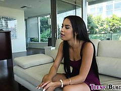ebony teen gets pounded