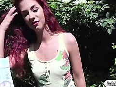 sexy redhead hungarian shona gets fucked for cash