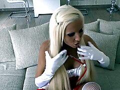 Teen Nurse Give German Dirty Talk to get your Sperm Probe